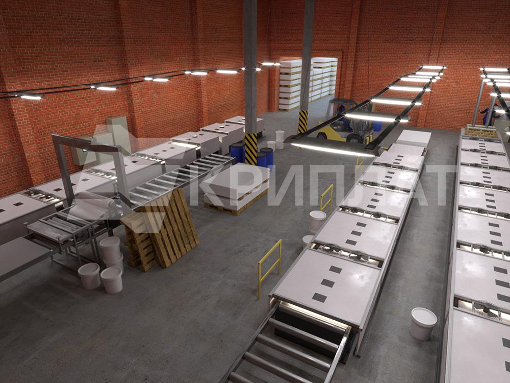 Производственная площадка панелей Криплат®
